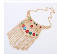 Fashion punk metal tassel necklace vintage cxt99893