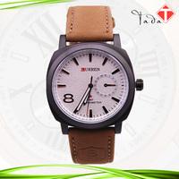 100pcs/lot freeshipping hot design genuine leather men/women's curren watch,w/calendar,w/imported quartz movement,two color