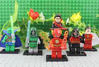 Super Heroes Mini Action Figures 6pcs/set Martian Manhunter Shazam Robin Daily Bugle Showdown Flash Night Wing Classical Toy