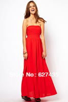 FREE SHIPPING!(10pieces)100% Brand New Women's Sexy Dresses/Intimate contact Slow Dance Strapless Red Maxi Evening Dress,LC6166