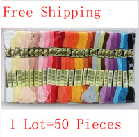 Wholesale Similar DMC Cross Stitch Thread 50 Pieces Free Shipping