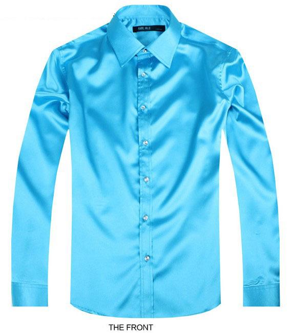 Sky Blue Luxury Groom Shirt