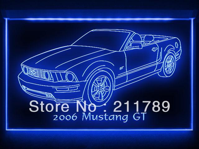 AC104 B 2006 Mustang GT Convertible Ford LED Light Sign(China (Mainland))
