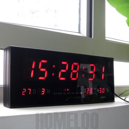 large led digital wall clock auriol horloge lcd pour salle de bain - Horloge Digitale Murale Salle De Bain