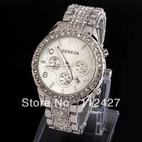 JF036 New  Women rhinestone watches Free shipping geneva watch Fashion diamond watches Women jewelly clock