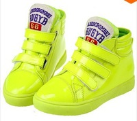 The new korean edition high sneakers help children leather shoes, children's boots,winter wear