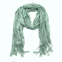 Min.Order $10 Infinity Scarf Style Women Girl's elastic mint scarf with shiny silver Wrap Stole Lady Neckerchief NEW