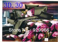 2014 New arrival luxury queen size 3d bedding set bed set sheet bedclothes duvet cover bed linen set pillowcase flower design