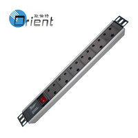 rack mount PDU  south Africa type 1.5U 6 ways with OFF-Live switch
