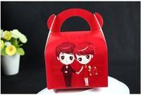 new arrive wedding candy BOX/happy red box /wedding sugar box /Small size: 8 * 6.6 * 10 cm (100PCS HOTSEELING)