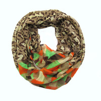 Min.Order $10 Fashionable Women Girl's polyester leopard snood scarf  Neckerchief Free shipping