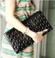 2014 new Korean fashion messenger bags circles chain rivet punk female shoulder bags bolsa sacola bolso borsetta feminino