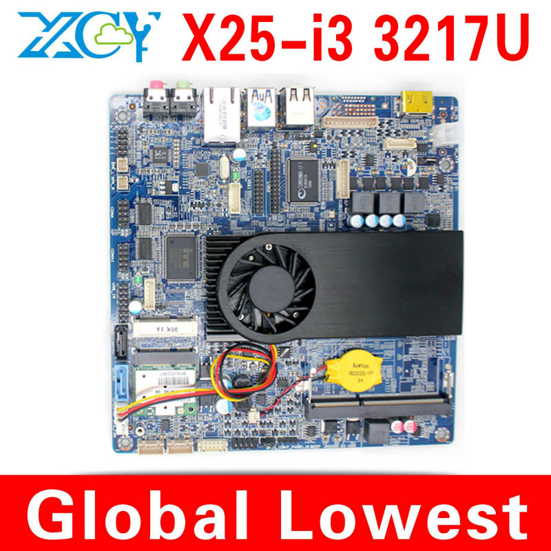 Intel core i3 3217u mini motherboard i3 mainboard industrial mini itx with small fan 1*HDMI,4*USB intel 3217u core dual 1.8GHz(China (Mainland))