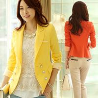 And Regular Solid Sale Jackets 2014 Korean New Fashion Slim Fit Casual Blazer Blaser Feminino Chaqueta Casaco Abrigo Femininas