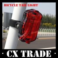 Free shipping New 5 led bike tail light 6 mode rear safety warning flashing bicycle flashlight lamp #8269