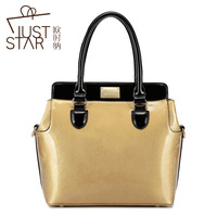 Fashion 2014 autumn women's handbag pearl crystal cross color block handbag bag 170674 totes Shoulder Bags