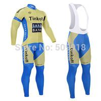 2014 Team QUICK STEP long sleeve cycling jersey + Cycling Bib pants sets quick step 2014 cycling clothing and Bib Pants Tights