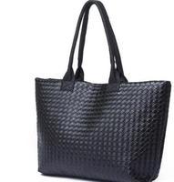 Hot Selling Women PU Leather Handbag,Tote Shoulder Bags, large capacity PU weave bags ,fashion design free shipping wholesale