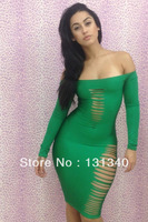 2014 New Free Shipping New Arrival Hot Sale Sexy Women's Hole  Dress