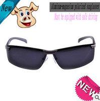 free shipping brand new Men's fashion polarized sunglasses night driving glass  aluminum and magnesium eyewear