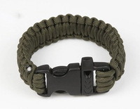 10pcs/lot Outdoor Whistle Buckle Parachute Cord Bracelet Cord Emergency Survival Camping Kits