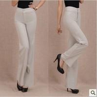 Summer new arrival anti-wrinkle pants diamond linen high waist pants casual long trousers female