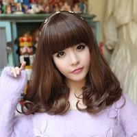 Wig Women with short hair Pear head Liu Qi Wig Slightly curled Hair type