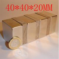 40*40*20 1pc 40 x 40 x 20mm  powerful magnet craft magnet neodymium  rare earth neodymium permanent strong magnet n52 holds 60kg