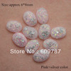 Free Shipping-Pink with silver foil 200pcs super shine Nail Art Decoration glitter stone