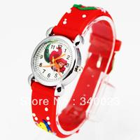 Free shipping 1pc Red Cute Mermaid Girls Fashion Casual Cartoon Children's Silicone Watch Chrismas gift Watch, C15-RD