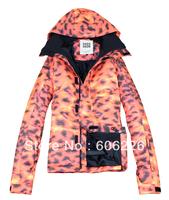 Free Shipping!! 2014.1.18 NEWS Gsou snow men 10K Waterproof SKI JKT Snowboard Coat /SKI JACKETS Leopard: S-XL
