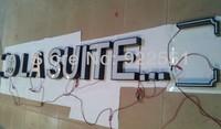 custom-made white acrylic frontlit led sign letters lighting channel letters for Cigarette advertising