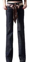 Free Shipping!  Hot-selling 2015  Women Wide Keg Denim  Pants ,Female Loose Slim Denim Flare Trousers