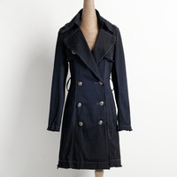 High quality brand classic retro women chothes 118 - 125 women's trench outerwear odyq
