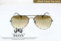 High quality 2014 Brand new designer fashion sunglasses for women men retro aviator gradient colored lens Free shipping