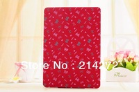 New trendy floral design simply pu Leather portfolio smart wake up/sleep case cover pouch for ipad air smart case