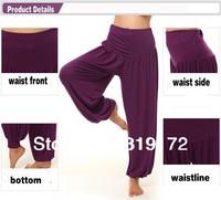 High Quality Women Yoga Pants  Loose Boho Lady Trousers Wide Harem Belly Dancing Modal Girl Sportswear  10 colours freeshipping