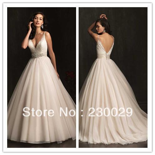 Свадебное платье Floor-Length V Vestido noiVa AL001 вечернее платье mermaid dress vestido noiva 2015 w006 elie saab evening dress