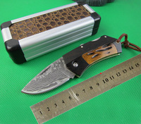 NEW DAMASCUS Half breed Plough Wood + Bone Handle Pure Handmade Straight Knives High-end Collection Fixed Knife Freeshipping
