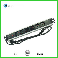 Italy type rack mount  PDU 1.5U 6 ways with overload protection