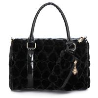 free shipping 2014 BOSS all-match velvet vintage heart pillow female bags handbag women handbag messenger bags chain tote