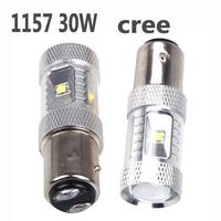 2pcs/lot Free shipping 720LM CREE XBD 30W 1157 BAY15D P21/5W LED Brake Light 12V 24V 1157/1156 car tail light bulb car lighting