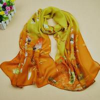 Wholesale 6 colors 160*50cm 2014 new fashion chiffon scarf print autumn summer brand Brid Pattern silk scarves shawl  women aw3