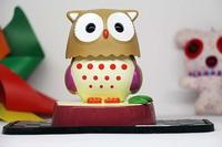 Cute 10cm 180degree Owl baby tomy Shape Car Bobblehead Solar Power Doll