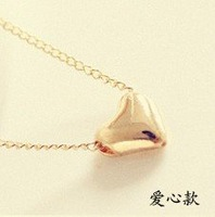 24pcs/lot Gold Sweet Heart Necklace MN009 Magi Jewelry