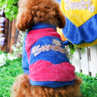 O teddy dog clothes pet sweatshirt t-shirt bichon clothes cat clothes dog clothes pet clothes autumn and winter b