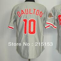 American Philadephia #10 Daulton Jerseys Embroidery logos Daulton Men's Baseball Jerseys Mix Order Free Shipping