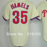 Philadephia Baseball Jerseys Embroidery logos #35 Hamels Halladay Men Baseball Jerseys Mix Order Free Shipping