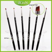 Free Shipping Professional 10PCS/Lot Metal Brush Art Nail Brush Gel Brush 4#
