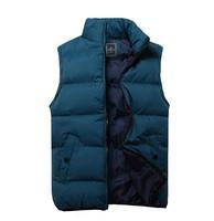 Autumn-summer men's down vest top brand sport waistcoat winter vest sleeveless down coats & jackets for men plus size 4 colors